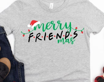 merry friendsmas SVG, friends svg,Santa Hat Svg, christmas friends Svg,Christmas svg,Christmas svg design,Christmas cut file, svg for cricut