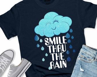 smile thru the rain svg,rain svg,girls svg,smile svg,svg for cricut,girlie svg,happy cloud svg,smiley svg,cut file,cricut svg,svg for mobile