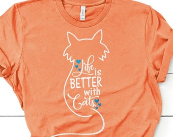 Life Is Better With Cats svg,Cat svg,Better With Cats svg,SVG Cat,Tshirt svg,Tshirt decal,Cat decal,Cricut Designs,Silhouette Designs