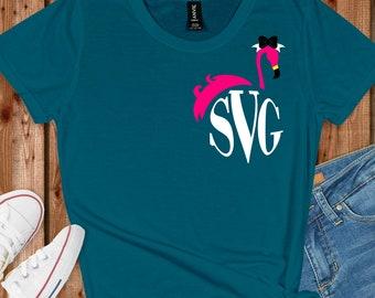 Flamingo Monogram svgs,Monogram Flamingo svg,Flamingo Monogram svg,Flamingo svg,Monogram Svg Designs, Monogram Cut File, cricut svg