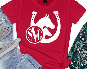 Horses Monogram,Horse svg,Svg Monogram Horse,Monogram Horseshoe,Horseshoe Decal,cut files, cricut svg, svg for mobile, mobile svg