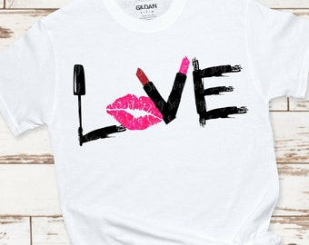 make up love svg,love makeup svg,makeup shirt svg,makeup artist,lipstick svg,mascara svg,makeup svg,svg for Cricut,Silhouette Design