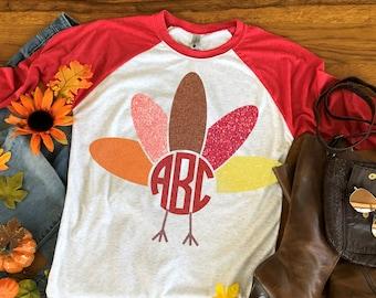 Turkey Monogram,Turkey Leg svg,Turkey Monogram,Thanksgiving svg,Fall svg,Tshirt svg,Thankful svg,Cricut Designs,Silhouette Designs