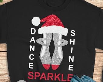 Santa Hat Ballet Slippers,Ballet Slippers svg,Christmas Ballet Slipper,Ballet svg,Dance svg,Ballet Dance svg,Cricut Design,Silhouette Design