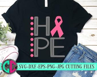 Breast Cancer svg, Hope ribbon svg, Cancer Survivor svg, Pink svg, Fight for the Cure, Breast Cancer, silhouette cameo, cricut svg