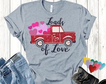 Valentine Red Truck svg,Red Vintage Truck,Valentines svg,Little Red Truck,Red Truck svg,Valentine Shirt svg,Cricut Design,Silhouette Design