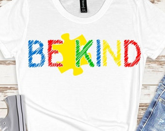 be kind puzzle piece SVG,autism be kind, be kind autism, autism svg, autism puzzle svg,Cricut Designs,Silhouette Designs, be kind svg