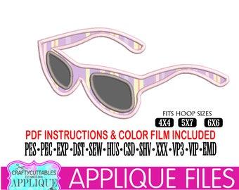 Sunglasses Applique,Sunglasses Applique File,Sunglasses Embroidery,Sunglasses Appliques,Sunglasses Files,Cricut Designs,Silhouette Designs