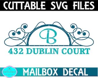 Half Oval Mailbox Monogram Frame SVG,Ornament Clip Art,Monogram Frame,Mailbox Decal,Mail Box Decal,Cricut Designs,Silhouette Designs