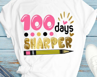 100 days sharper svg, 100 Days of School SVG, 100 Days Design, Girls 100 Days of School, 100 Days,svg for cricut, cricut cut file,svg,png