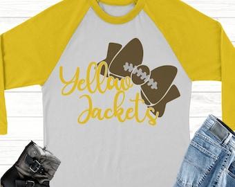 yellow jackets football bow svg,Football svg,jackets football,yellow jackets,yellow jackets,Sports Svg Designs, Sports Cut File, cricut svg