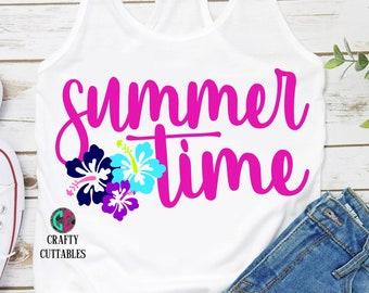 Summertime svg, Hawaiian flower svg,beach svg,Sunny day svg,Summer svg,sunshine svg,Summer Svg Designs, Summer Cut File, cricut svg