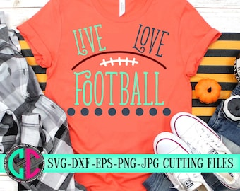 Live Love Football outline svg,love football svg football cut file, Football svg, dxf,eps, png, Football, iron on decal, svg for cricut