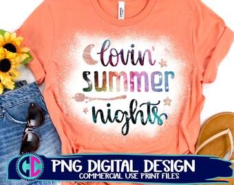 lovin summer night png, Summer PNG, Print File Sublimation, Print png, Retro Sublimation, Summer, Beach Design, Vintage png, sublimation png