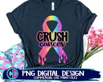 crush cancer png, hope cancer ribbon png, sublimation png, print png, breast cancer sublimation png, cancer sublimation file, sublimation