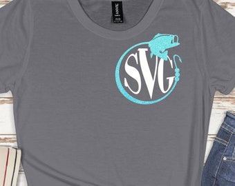 bass monogram svg, bass svg, monogram svg, fishing svg, vacation svg, tshirt, travel svg,Monogram Svg Designs, Monogram Cut File, cricut svg