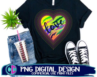 love heart png, glitter heart png, sublimation png, print png, retro heart sublimation png, vintage sublimation file, heart sublimation