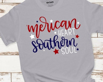 merican heart 4th of july svg, southern soul svg, America svg,png,dxf,July 4th svg,freedom svg,svg for cricut,july 4th clipart,patriotic svg