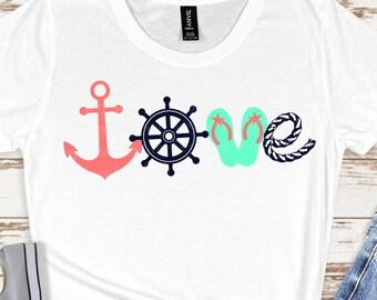 love beach svg,beach svg, anchor svg, flip flop svg, summertime svg,beach life svg,Summer Svg Designs, Summer Cut File, cricut svg