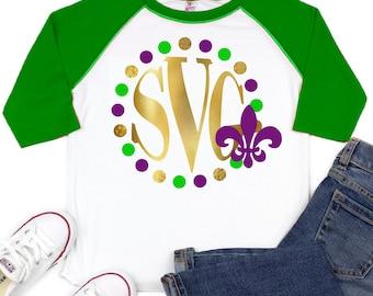 Monogram Mardi Gras SVG file,Mardi Gras Shirt Svg,Fleur de lis Svg,Monogram Mardi Gras,Mardi Gras Svg Design,Mardi Gras Cut File, cricut svg