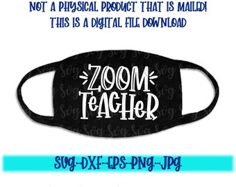 zoom teacher svg, zoom svg, quaranteacher svg, face mask svg, teaching svg, mask svg, mobile svg, svg for Cricut, Silhouette design