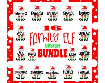 Elf bundle svg,Christmas elf bundle svg,family elf bundle svg,svg bundle, bundle svg,Christmas svg designs, Christmas cut file, cricut svg
