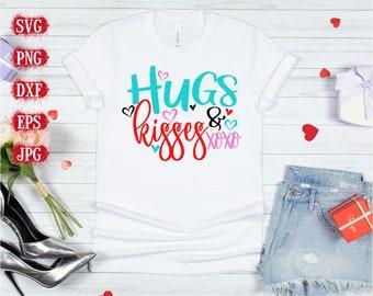 hugs and kisses Svg, cupid svg, Valentine's Svg, Valentine's Day Svg, Funny Valentines Svg, Valentines Cut Files, Cricut Cut Files