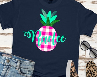Pineapple monogram svg, Plaid monogram svg, monogram pineapple svg, pineapple svg, Summer Svg Designs, Summer Cut File, cricut svg