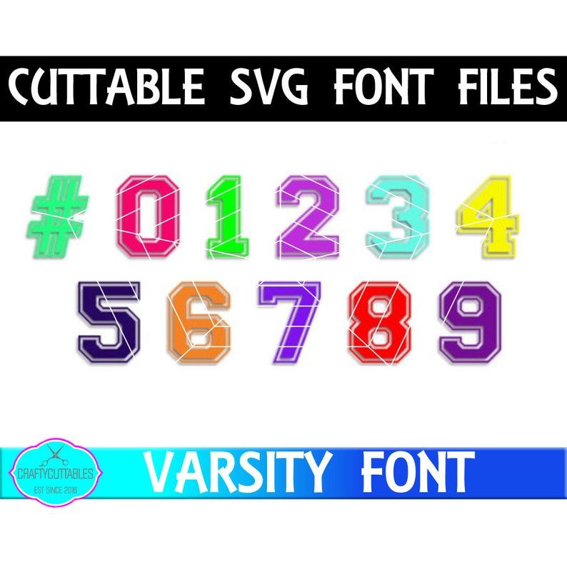 Jersey Letter Font Svgfontsfootball Jersey Font Svg Varsity Etsy