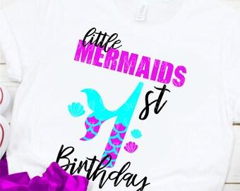 My 1st Birthday Mermaid Svg, Eps, Png,Clipart, Cut File, Mermaid Birthday Svg, Mermaid Girl Svg, svg for Cricut, Mermaid Vibes, Birthday Svg