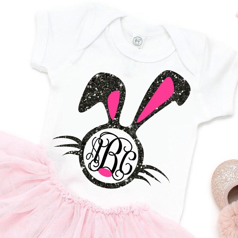 bdf6820654761 Easter Bunny Face svg,Easter bunny svg,Bunny Monogram svg,girls bunny  svg,girls bunny,Easter shirt,Easter dxf,Monogram bunny,Rabbit monogram
