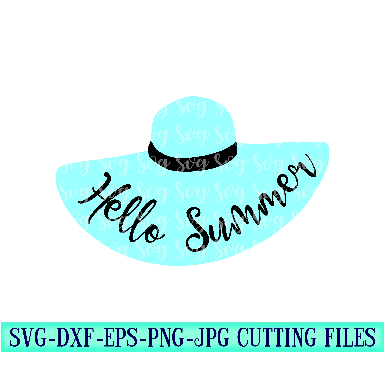 Hello Summer Svg Hello Summer Summer Svg Hello Svg Preppy Svg Beachy Svg Cut Files Cricut Svg Svg For Mobile Beach Svg Beach Hat Svg
