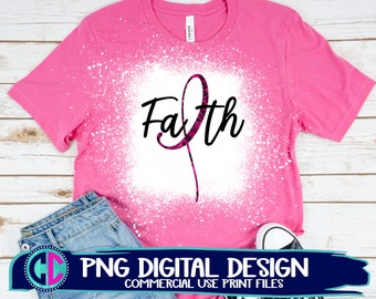 cancer png, faith png, sublimation png, faith cancer ribbon png, print png, breast cancer sublimation png, sublimation file, sublimation png