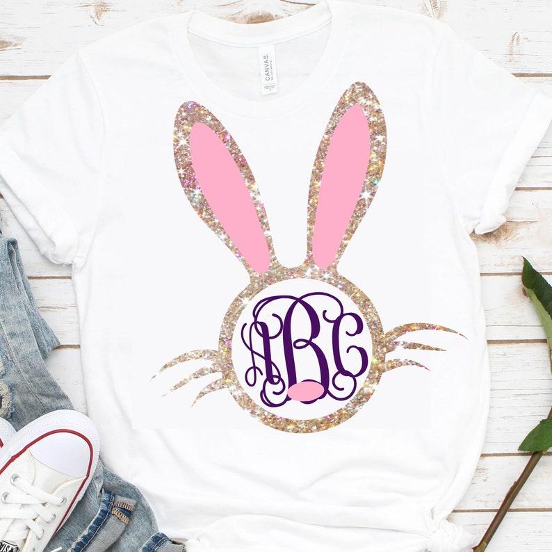 d76de53c53dd9 Monogram Bunny Face svg,Easter bunny svg,Bunny Monogram svg,Bunny svg,girls  bunny,Easter shirt,Easter dxf,Monogram bunny,Rabbit monogram