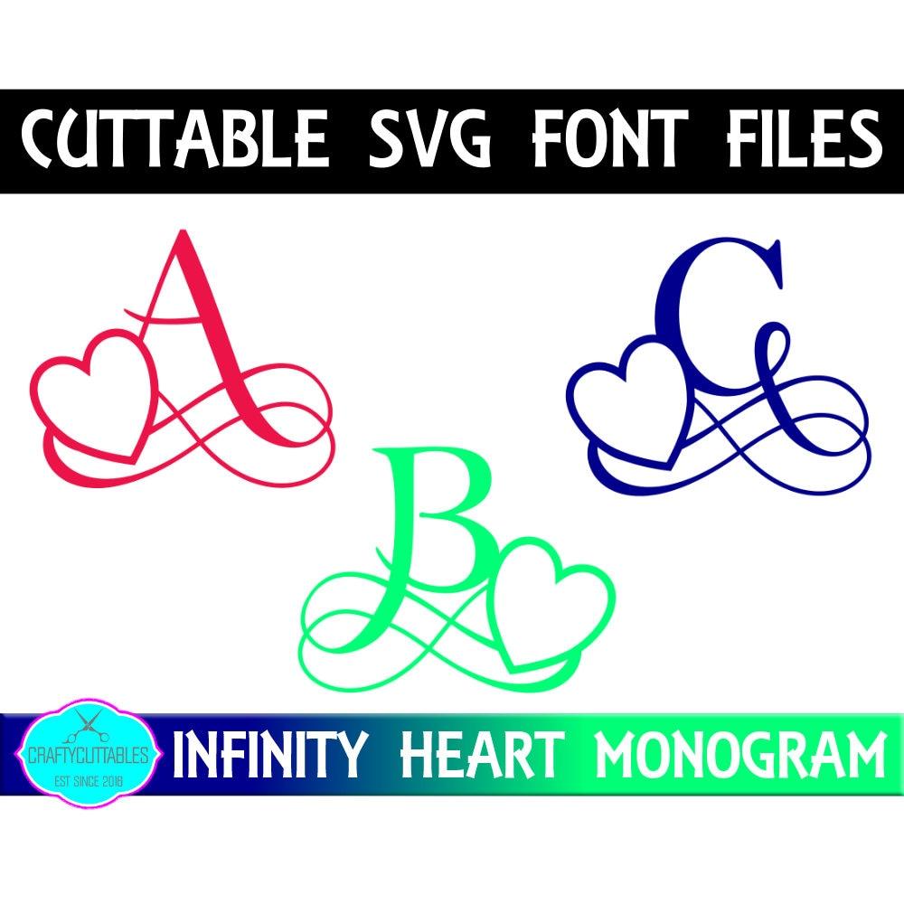 Download Heart Monogram Font SVG,Heart font,Fonts, Infinity Heart ...