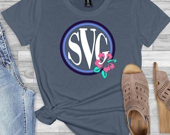 flower monogram svg, hibiscus svg, monogram svg, monogram flower svg,Summer Svg Designs, Summer Cut File, cricut svg