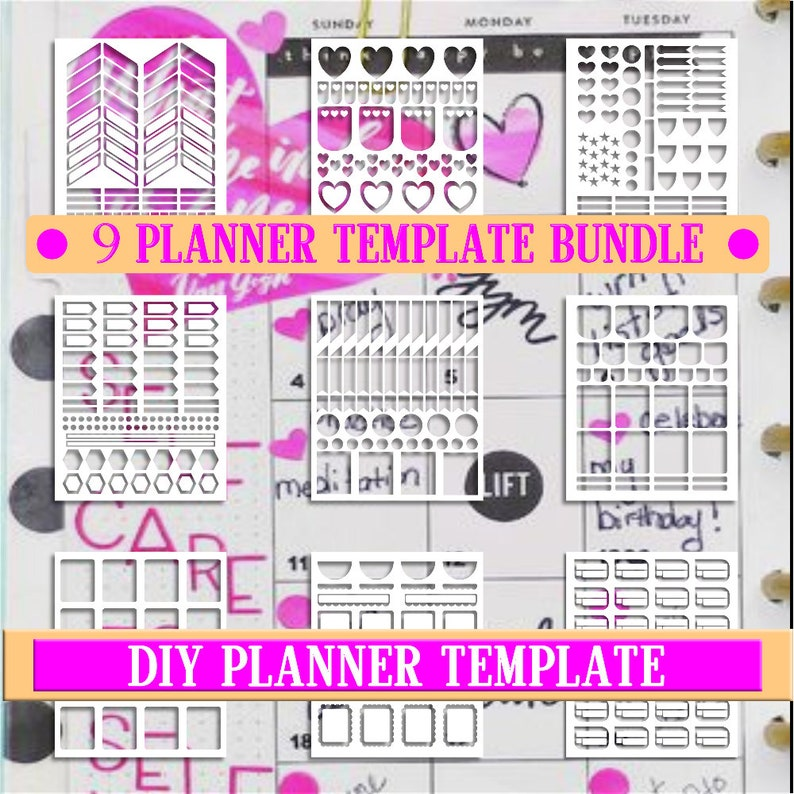 photo relating to Diy Planner Templates named Package deal sale,Planner stickers templates Do it yourself package, lifetime planner template, industrial employ the service of, quick down load,Cricut Programs,Silhouette Styles
