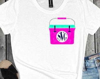 Yeti Monogram Cooler svg,cooler svg,Yeti Cooler svg,monogram svg,beach,Summer Svg Designs, Summer Cut File, cricut svg