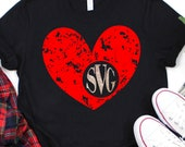 Grunge Heart Monogram svg,Valentine Monogram svg,Valentine Heart svg,Valentine Svg Designs,Valentine Cut File,cricut svg