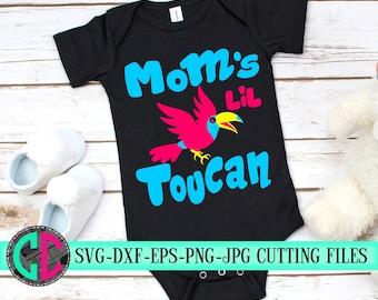 Moms lil toucan svg,toucan svg,kids svg,svg bird,toucan svg,kids svg,svg for cricut,beachy svg,baby svg,beach clipart,Silhouette clipart
