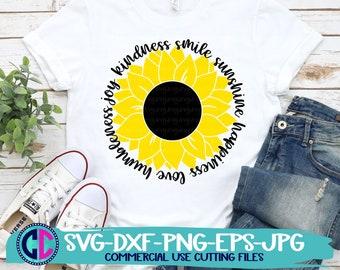 Summer svg, sunflower svg, kindness sunflower svg, sunflower sayings svg, summertime svg , Summer Svg Designs, Summer Cut File, cricut svg