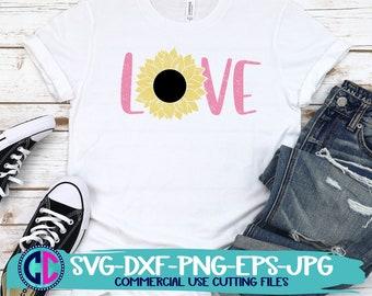 Summer svg, sunflower svg, love sunflower svg,love svg, sunflowers svg, summertime svg , Summer Svg Designs, Summer Cut File, cricut svg