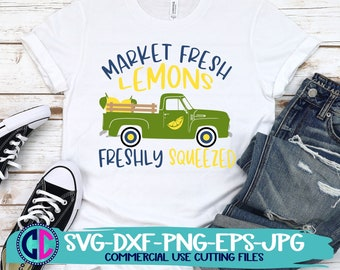 Summer Svg, Market fresh lemons svg, vintage truck svg, lemonade svg, lemon pitcher svg, Summer svg design, Summer cut file, Summer cricut