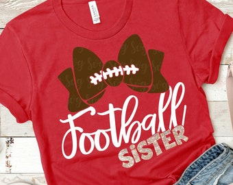 football bow svg,football sister svg, football svg,football sister shirt, Sports Svg Designs, Sports Cut File, cricut svg