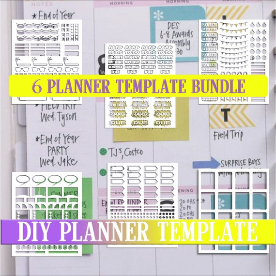 graphic about Diy Planner Templates called Deal sale,Planner stickers templates Do-it-yourself package, daily life planner template, business seek the services of, instantaneous obtain,Cricut Strategies,Silhouette Models