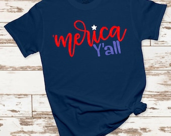 merica yall 4th of july svg, merica svg, America svg,png,dxf, July 4th svg, freedom svg,svg for cricut,july 4th clipart, patriotic svg