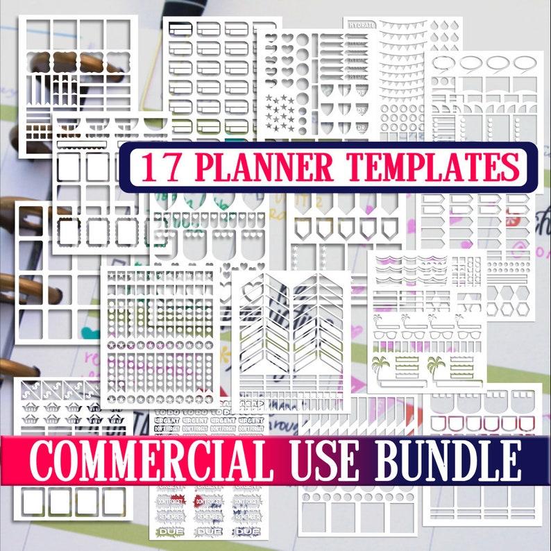 Bundle sale,Planner stickers templates DIY kit, life planner template,  commercial use, Cricut Designs,Silhouette Designs