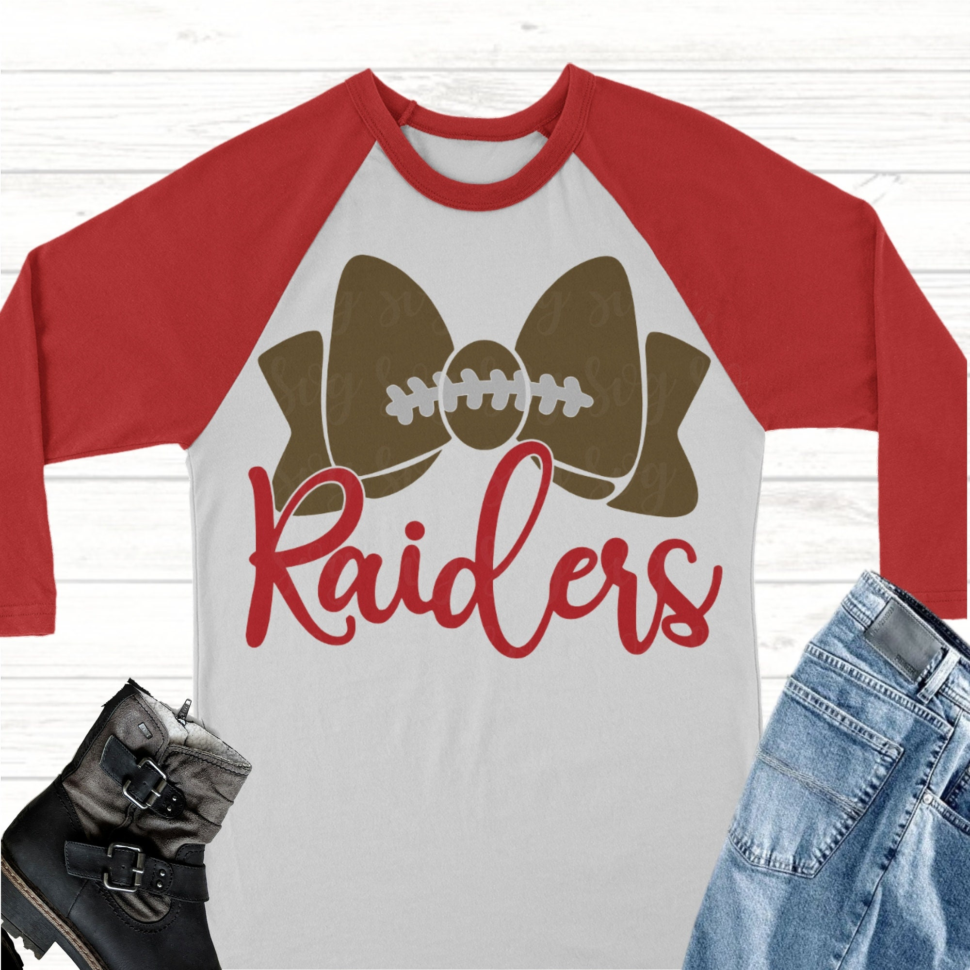 Raiders Football Bow Svg Football Svg Raiders Football Raiders Raiders Svg Football Mom Svg Svg For Cricut High School Football Svg
