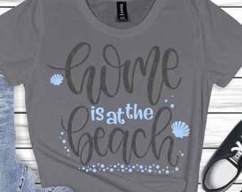 home is at the beach svg,beach svg, palm tree svg, summer svg, summertime svg,beach life svg,Summer Svg Designs, Summer Cut File, cricut svg