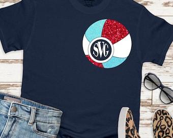 beach ball monogram svg, beach svg, monogram svg, beach ball svg, vacation svg, tshirt, Summer Svg Designs, Summer Cut File, cricut svg